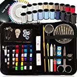 Arts & Crafts : SEWING KIT, Over 120 Premium Sewing Supplies, 38 Spools of Thread - 20 Most Useful Colors of Threads & 18 Multi Colors, Extra 40 quality sewing pins - Mini Travel sewing kit, for Beginners, Emergency