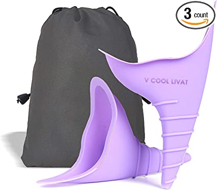 Female Urination Device Female Urinal Silicone Funnel Urine Cups Pee Funnel Portable Urinal for Women Standing Up to Pee Funnel Reusable Womens Pee Funnel Outdoor Activities