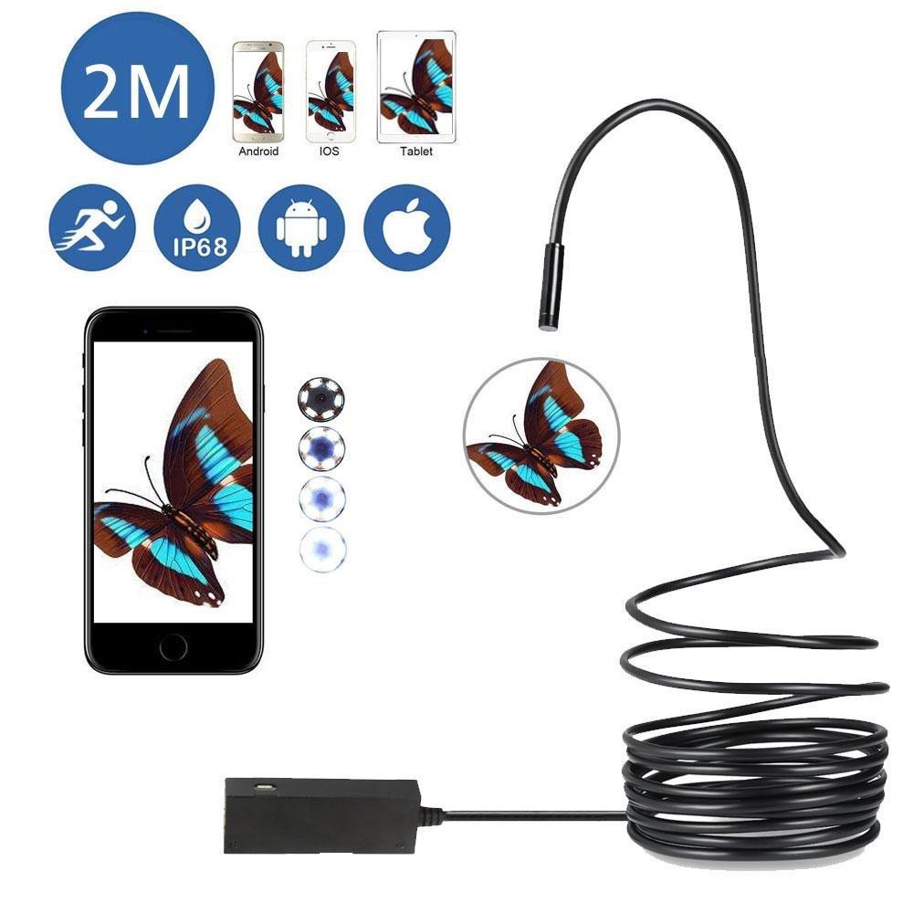 USB Endoscope, OXOQO Waterproof OTG Endoscope Borescope Inspection Camera 2.0 Megapixels 720P Snake Camera for IPhone IOS Android Tablet