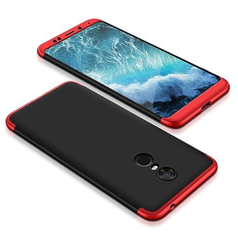 MoEvn Xiaomi Redmi 5 Plus Funda, Combinación Funda Cover Carcasa 360 Grados Protección Case Cover Duro Anti Skid Anti Rasguño Color PC Funda para ...