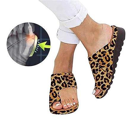 RPU Sandalias Zapatos de Viaje de PU Sandalias correctivas de Piel sintética Suave de corrección del