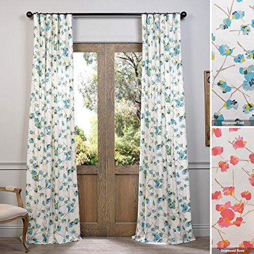 Teal And White Curtains Amazon Com