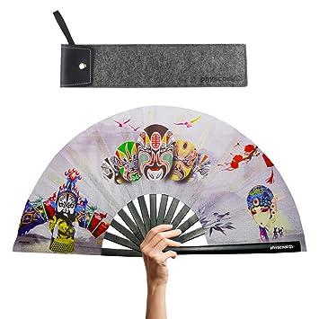 Amazon.com: Ventilador de estilo chino de tejido de nailon y ...