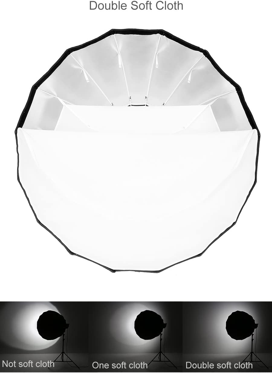 Godox P90L 90cm Portable Deep Parabolic Softbox Bowens Mount Compatible for Studio Flash SK400II SK400 SK300II DP600II DP400II DE300 DE400 and Outdoor Flash AD600 AD600BM