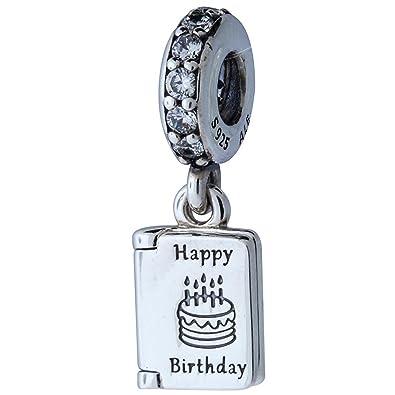 d9e5caf88 Amazon.com: Pandora Birthday Wishes Silver Dangle Charm 791723CZ : Arts,  Crafts & Sewing