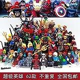 NEW 62pcs Super Hero MiniFigures Building Block Toys