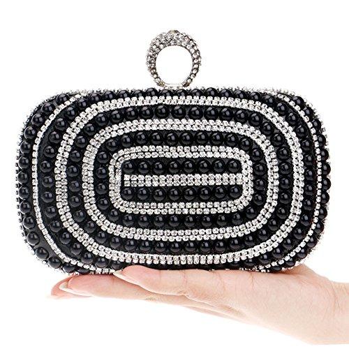 Banquet Evening Dresses held HKC Bag Hand Ladies Handbags Pearl Nightclubs Luxury Evening 2 Women's P6PIY1g4q