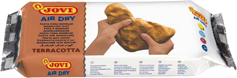 Jovi- Pasta de modelar, 500 gr, terracota, Color Gramos (330722)