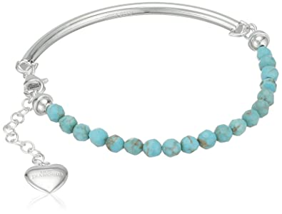 Tuscany Silver Sterling Silver Turquoise Bead and Bar Bracelet of 19cm/7.5 y7zA7sezs