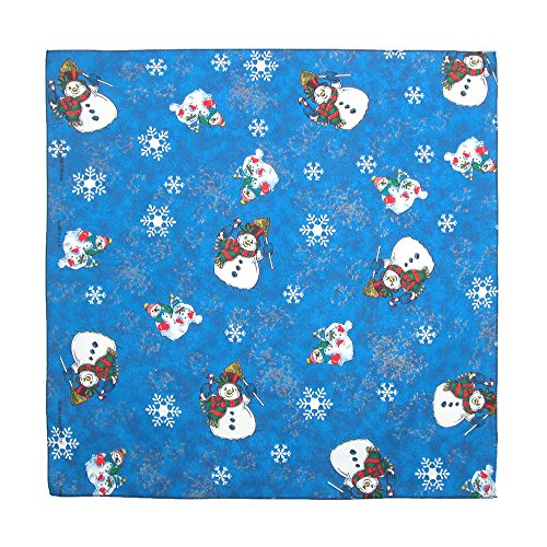 CTM Women's Snowmen Holiday Christmas Bandana, Navy