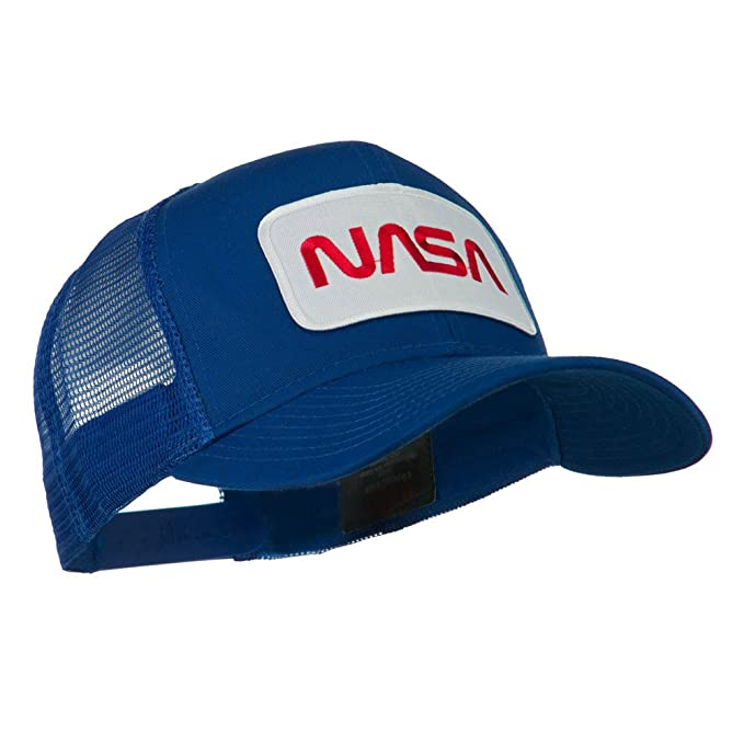 NASA Logo Embroidered Snapback Patched Mesh Back Baseball Cap ...