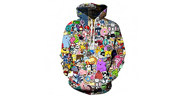 Hoodies Kawaii Clothes 3D Hooded Sweatshirt at Amazon Mens Clothing store: