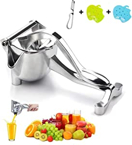 Lemon Squeezer, Hand Fruit Juice Squeezer Stainless Steel Alloy, Heavy Duty Hand Press Fruit Juicer Detachable, Single Press Fruit Squeezer for Lemon, Orange, Apple