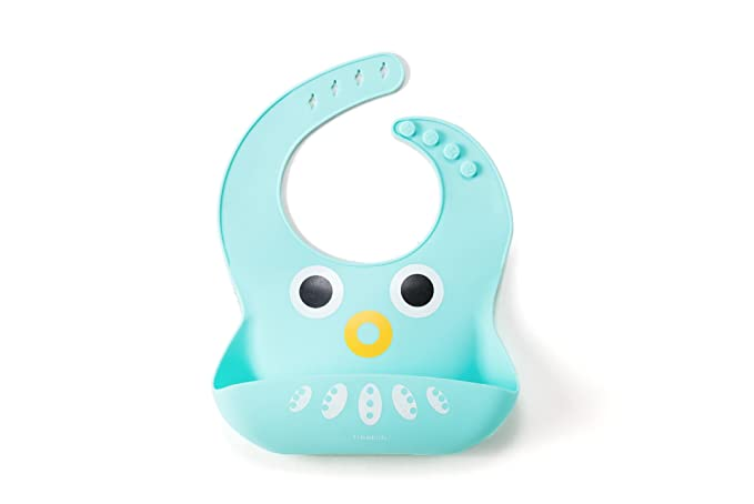 Amazon Lorim Silicone Bibs For 6month Babies And Toddlers Cute Blue Octopus Super Soft Waterproof Easy Clean