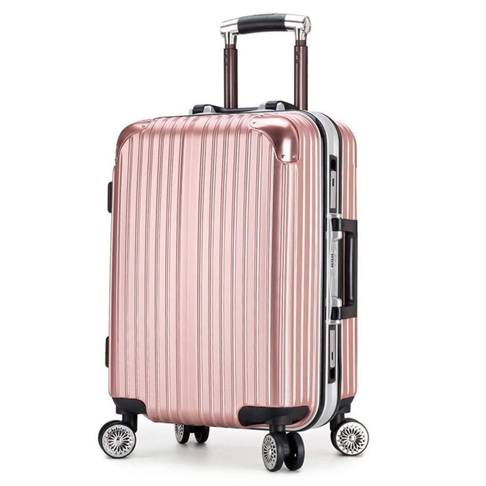 スーツケース アルミフレームユニバーサルホイールプルロッドボックスサイレントホイールコード荷物搭乗用バッグ20/24インチ 軽量 静音 TSAロック搭載 ファスナータイプ 機内持ち込みスーツケース (サイズ : 24) B07SLMG7DW  24