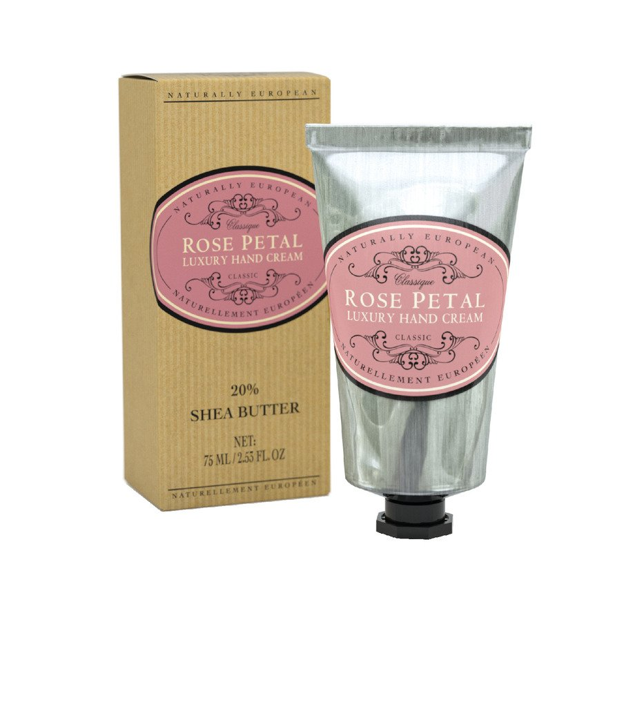 Naturally European ROSE PETAL Luxury Hand Cream Boxed 20% Shea Butter 75ml by THE SOMERSET TOILETRY COMPANY LIMITED