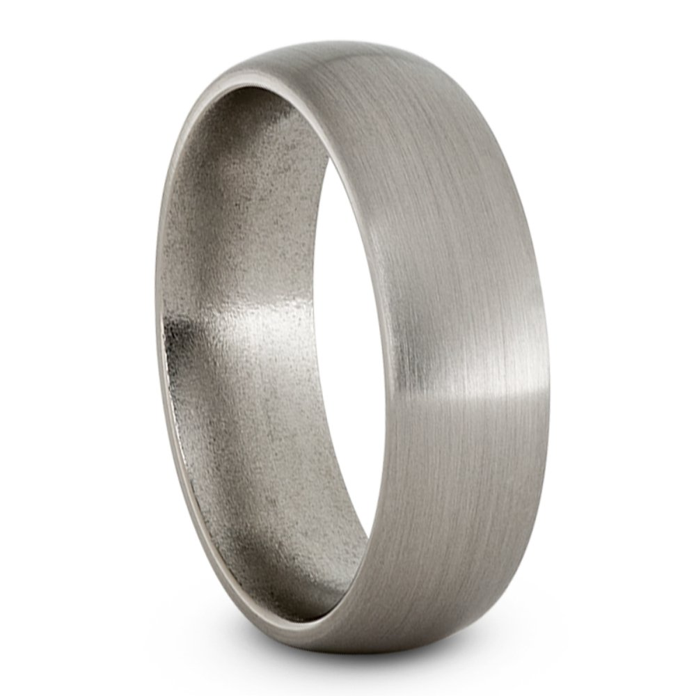 Satin Titanium 7mm Comfort-Fit Dome Wedding Band, Size 12.5 by The Men's Jewelry Store (Unisex Jewelry) (Image #1)
