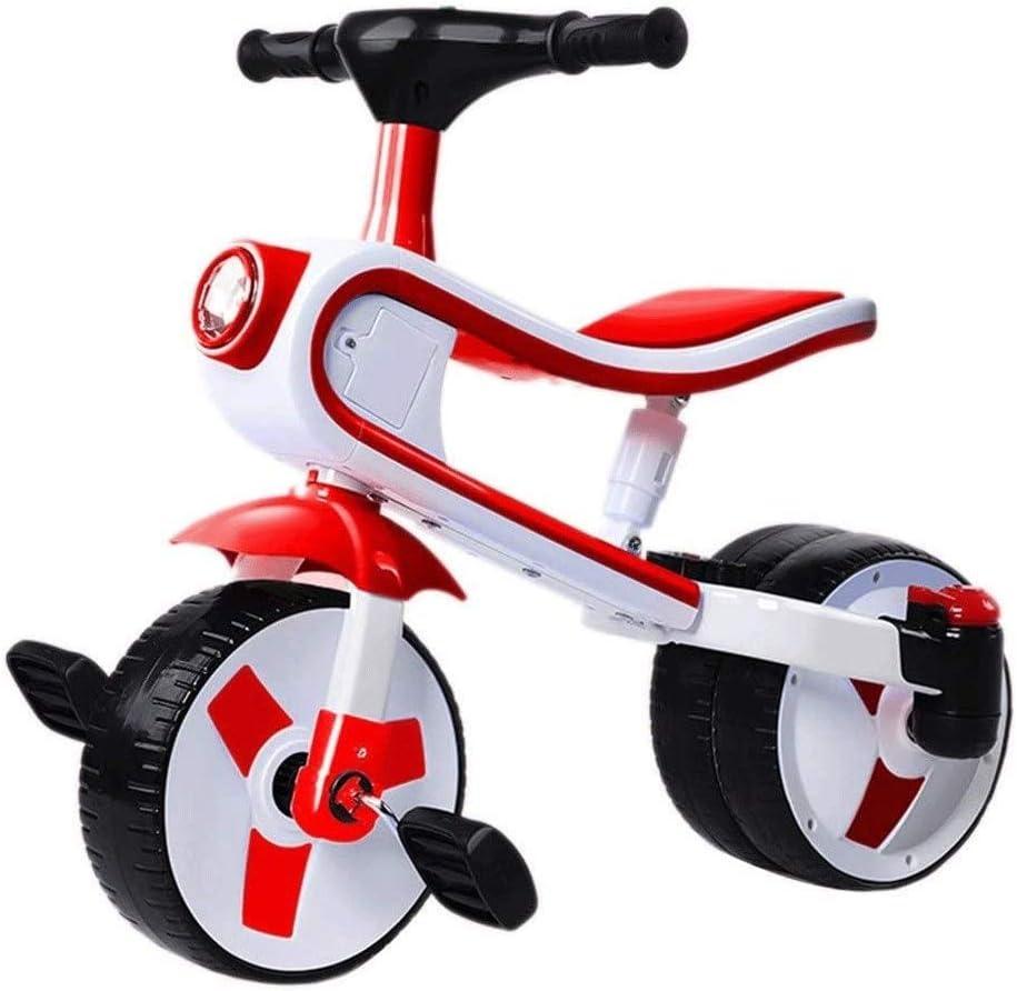 ZQY 2 en 1 for niños Triciclo Bici 3-4-5-6 Años de Edad Hombres Mujeres Niños y bebé de Bicicletas bebé Tobillo del Coche Balance del Coche del Pedal (Color : D)
