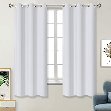 Amazoncom Bgment White Blackout Curtains Grommet Thermal