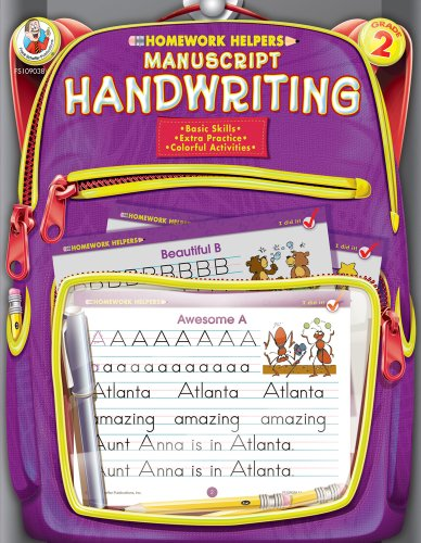 - Manuscript Handwriting Homework Helper, Grade 2