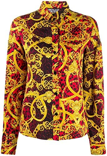 Versace Fashion Jeans Woman B0HVA611S0637537 Red Viscose Shirt | Spring Summer 20