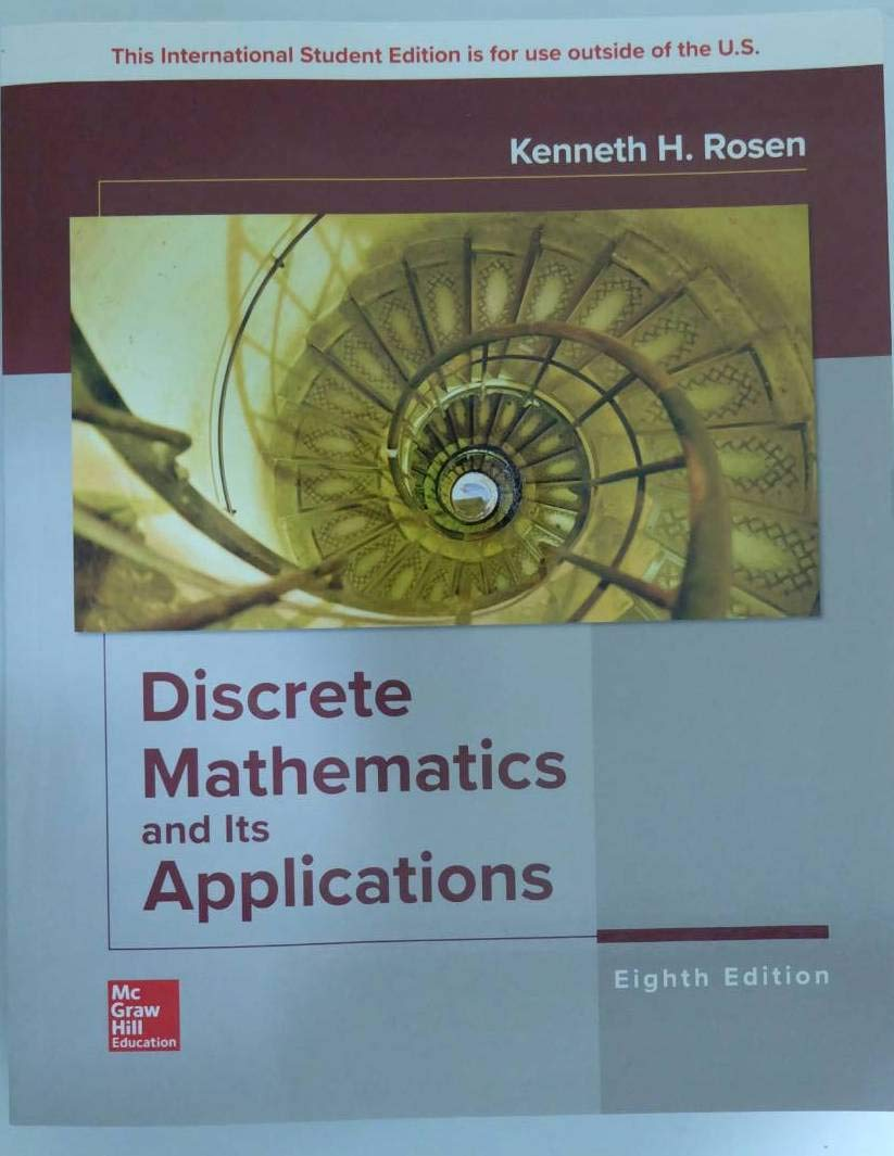 Discrete Mathematics and Its Applications by Mc Graw Hill