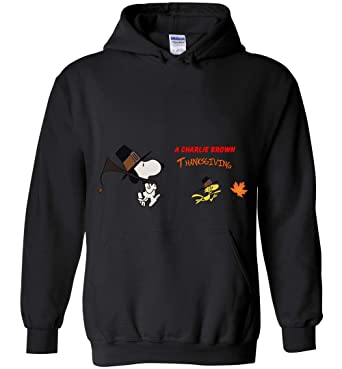 5520379d9f Amazon.com  Snoopy and Woodstock Thanksgiving Costume Hoodie  Clothing