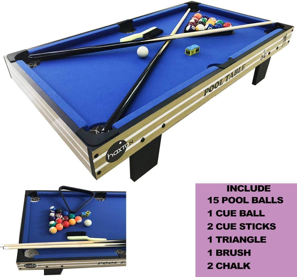 Tabletop Billiards Pool Games Set, Haxton Billiards Game