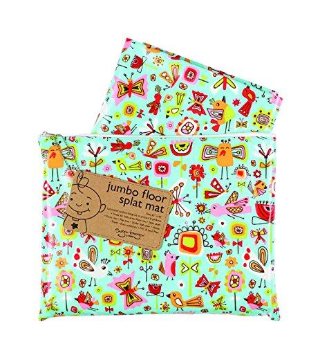 - Sugarbooger Jumbo Floor Splat Mat, Birds & Butterflies