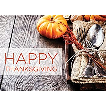 Amazon thanksgiving greeting cards th1510 greeting cards thanksgiving greeting cards th1510 greeting cards featuring a pumpkin and a thanksgiving place setting m4hsunfo