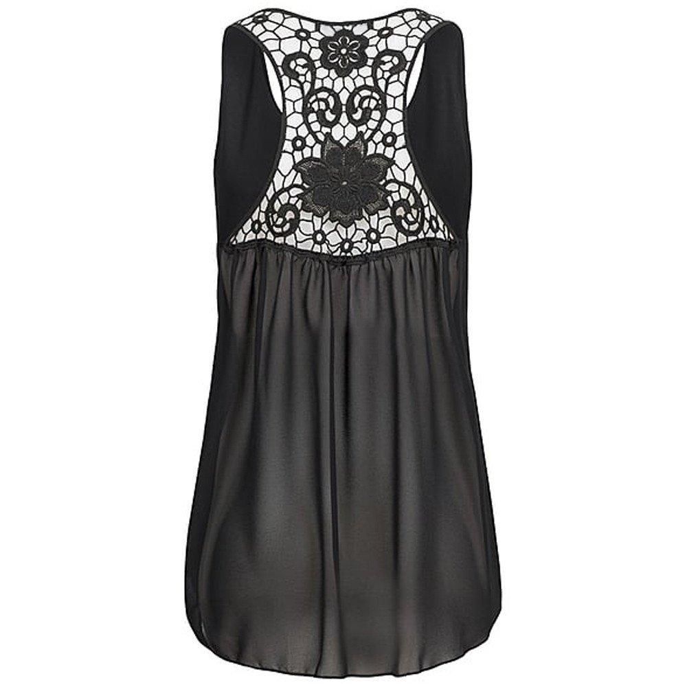 Womens Tank Tops Chiffon Hem Scoop Camisole Sleeveless Blouse Soild A-Line Tunic Clearance at Amazon Womens Clothing store: