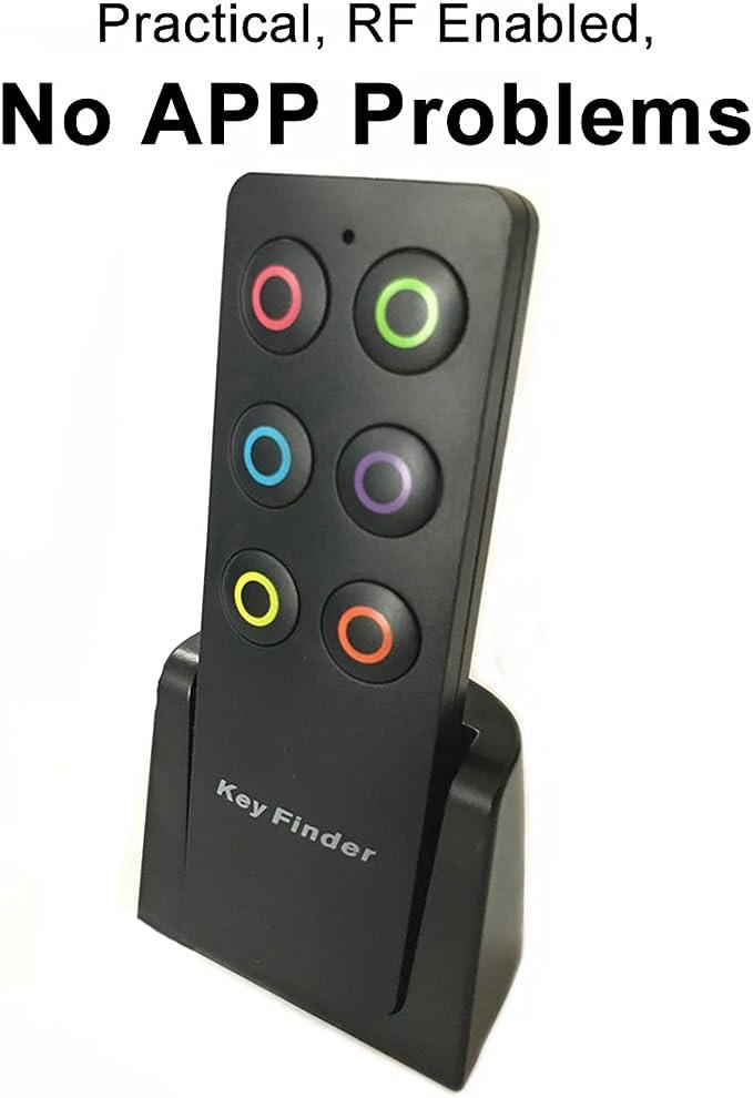 Bereich verloren Schl/üssel Finder Locator f/ür Tasten Telefon Remote Remote Finder mit exquisiten Fob-Empf/änger Extra lauter Schl/üsselanh/änger Alarm Finder 130ft
