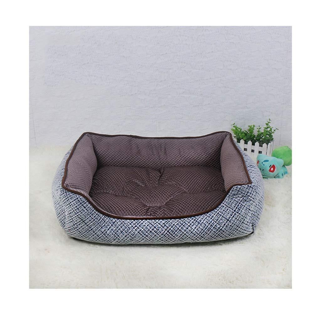 2  58cm47cm15cmDSADDSD Pet House Dualuse Mat Kennel Cat Dog Beds Sofas Warm Soft Dogs House Kennel Baskets Four Seasons Using Pet Supplies (color   2 , Size   58cm47cm15cm)