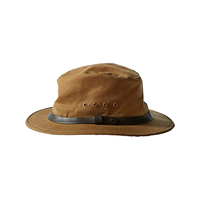 7005ceb6755e0 Filson Tin Cloth Packer Hat 60015 at Amazon Men s Clothing store