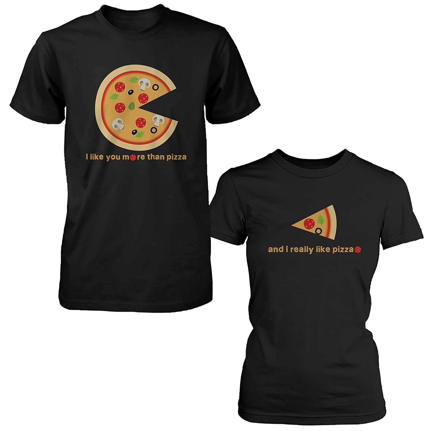 Amazon.com: I Like You More Than Pizza Matching Couple T Shirts Valentines  Day Gift Foodies: Clothing