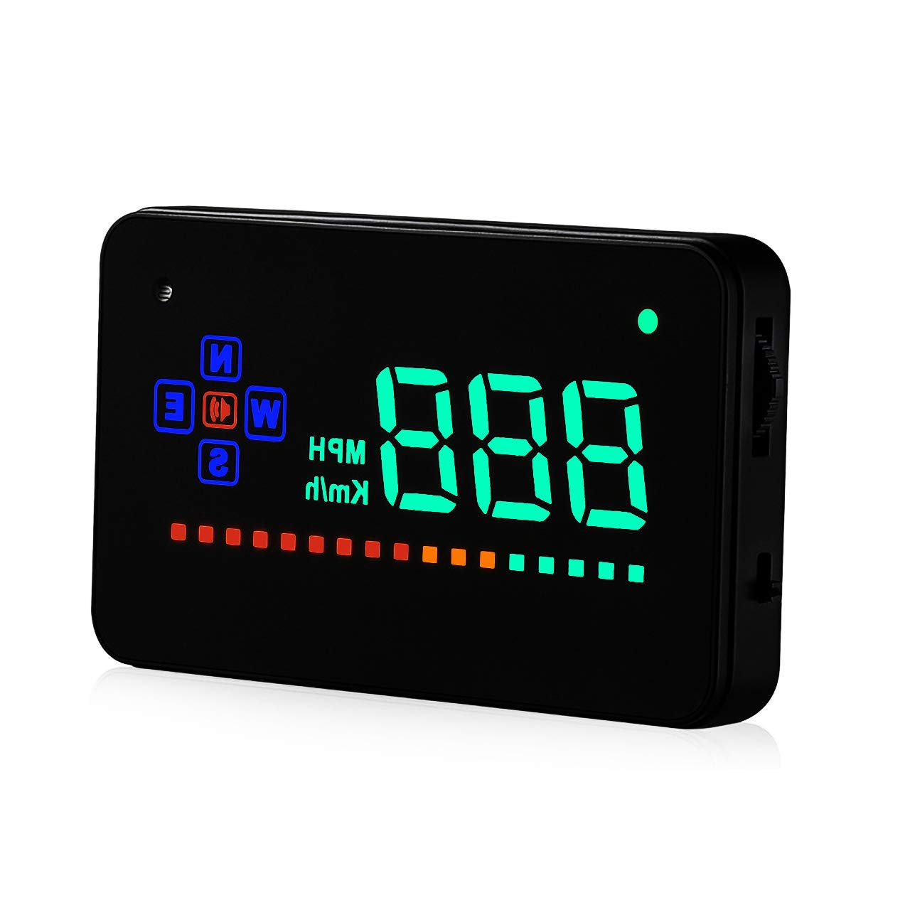 """ACBungji Head Up Display, HUD Interface GPS Image Reflector Plug 3.5"""" Screen KM/h Speeding Warning(Reflective Film and Non-slip Mat Included)"""