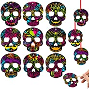 WhatSign Halloween Scratch Art Crafts for Kids 24Pcs Magic Rainbow Scratch Paper Halloween party games for Kid