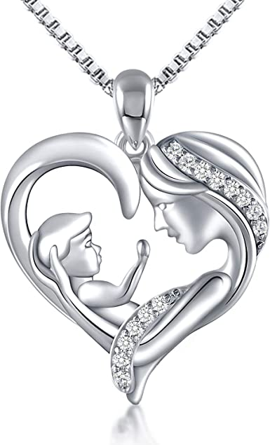 Women Fashion Jewelry Two Love Heart Hands Pendant Nacklace Mother/'s Day Gift