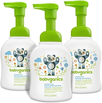 3 Pack Babyganics Alcohol-Free 8.45oz Foaming Hand Sanitizer