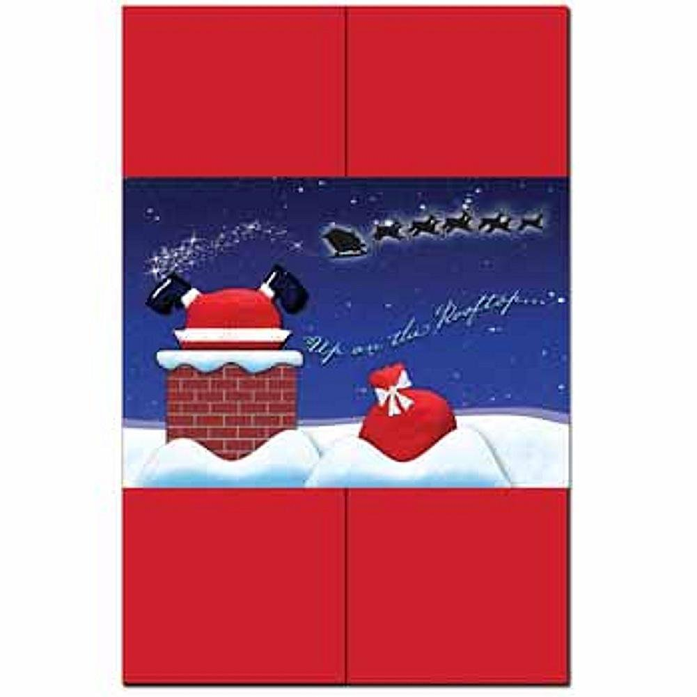 Santa On The Roof DIY Invitation Kit - 80 Pack