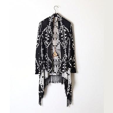 Amazon.com: De la Mujer tribal Impresión Shawl Collar en ...