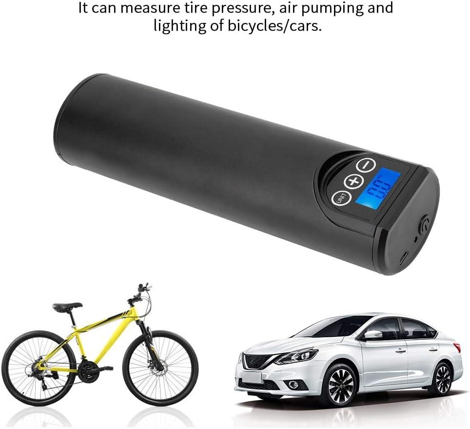 compresseur dair automatique 12V de jauge de pression de pneu de pompe de bicyclette de voiture Pompe portative /électrique Noir