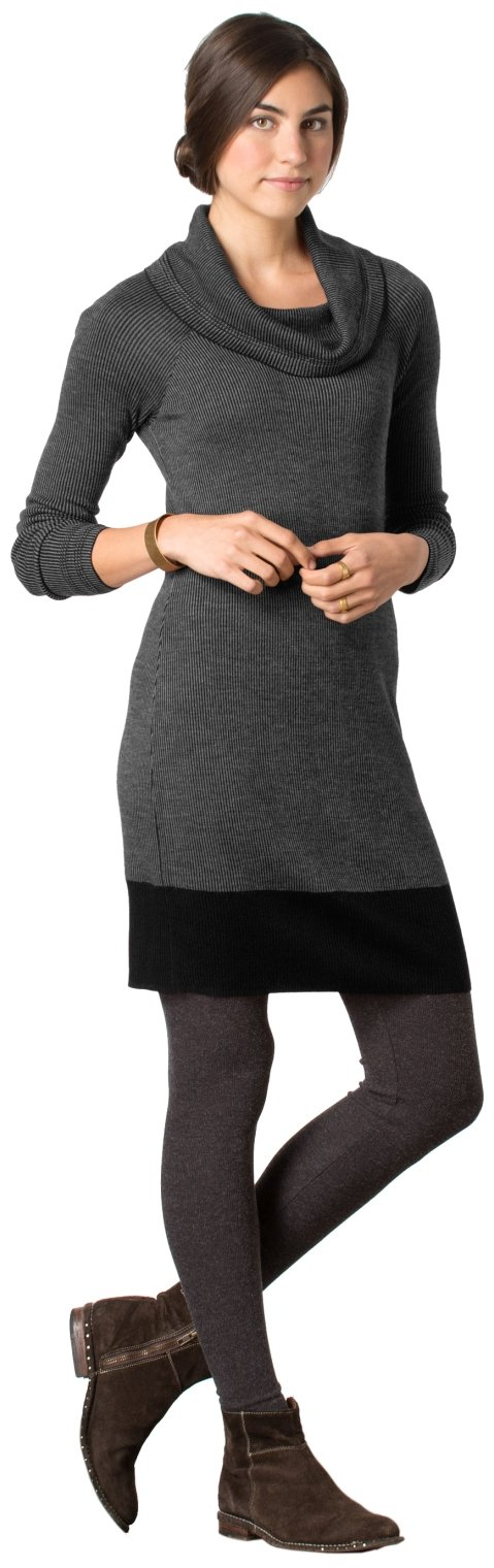Toad&Co Uptown Sweaterdress - Women's Black Heather Small