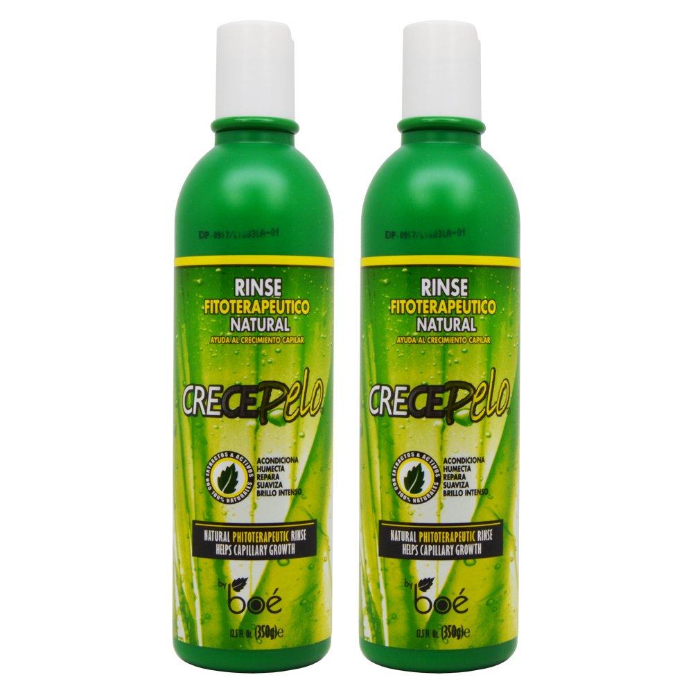 """BOE Crece Pelo Rinse Fitoterapeutico Natural (Natural Phitoterapeutic Rinse) 12.5oz """"Pack of 2"""" for sale"""