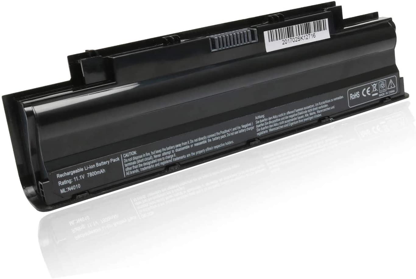 VUOHOEG 9 Cell Laptop Battery Replacement for Dell Inspiron 15R (N5110) 14R (N4010) 17R (N7010) 13R (N3010) 3420 3520 M5110 M501 M503 Series; Fits J1KND 4T7JN - 7800mAh 11.1V