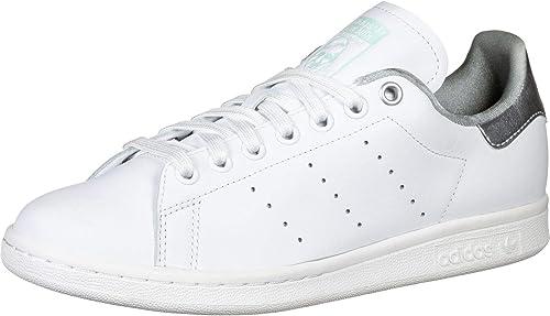 silver adidas metallic smith stan chaussure femme jR35A4L