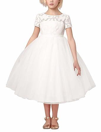 iEFiEL iEFiEL Festliches Mädchen Kinder Kleid Prinzessin ...