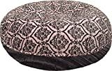 BESSIE AND BARNIE 36-Inch Bagel Bed for Pets, Medium, Versailles Pink/Black Puma