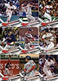Boston Red Sox 2017 Topps Complete Mint Hand Collated Team Set with Dustin Pedroia Andrew Benintendi Mookie Betts Plus