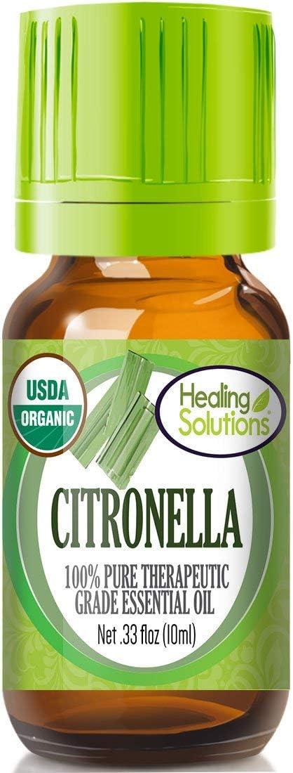 Organic Citronella Essential Oil (100% Pure - USDA Certified Organic) Best Therapeutic Grade Essential Oil - 10ml